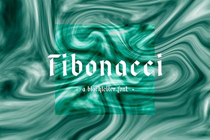 Fibonacci Fraktur Free Font