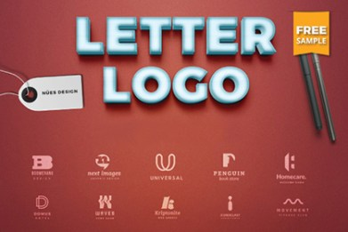 templates free letter logo sample pack