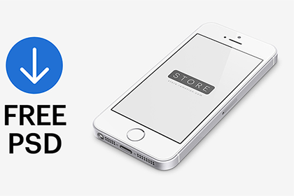 Free iPhone SE Mockup PSD