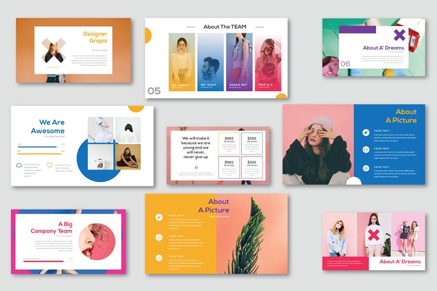 Pastel Free Presentation Template — Free Design Resources