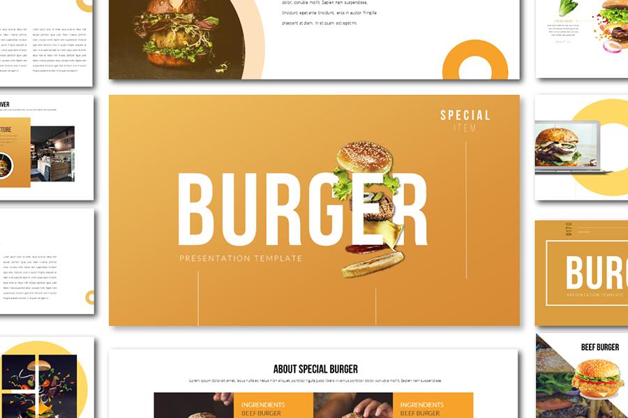 Burger Free Presentation Template