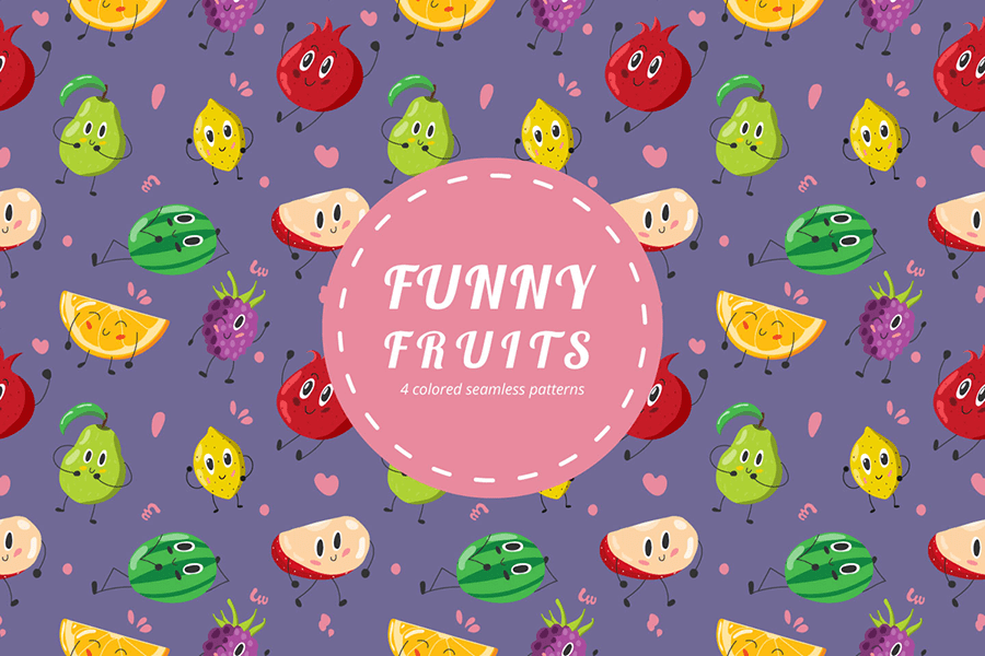 Free Fun Fruit Vector Pattern