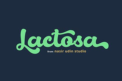 Lactosa Bold Script Free Demo