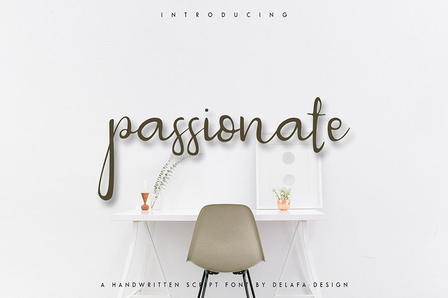 Passionate Free Font Demo