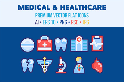 10 Medical Healthcare Icons