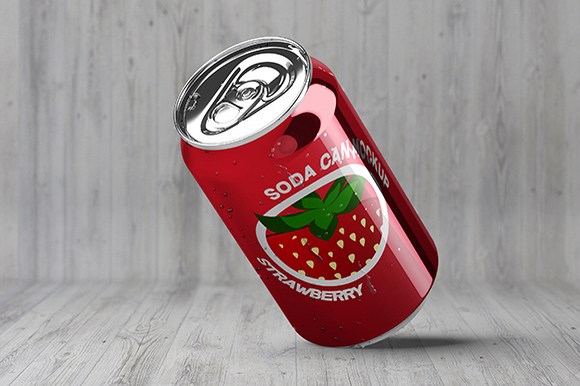 Soda Can Free PSD Mock-Up