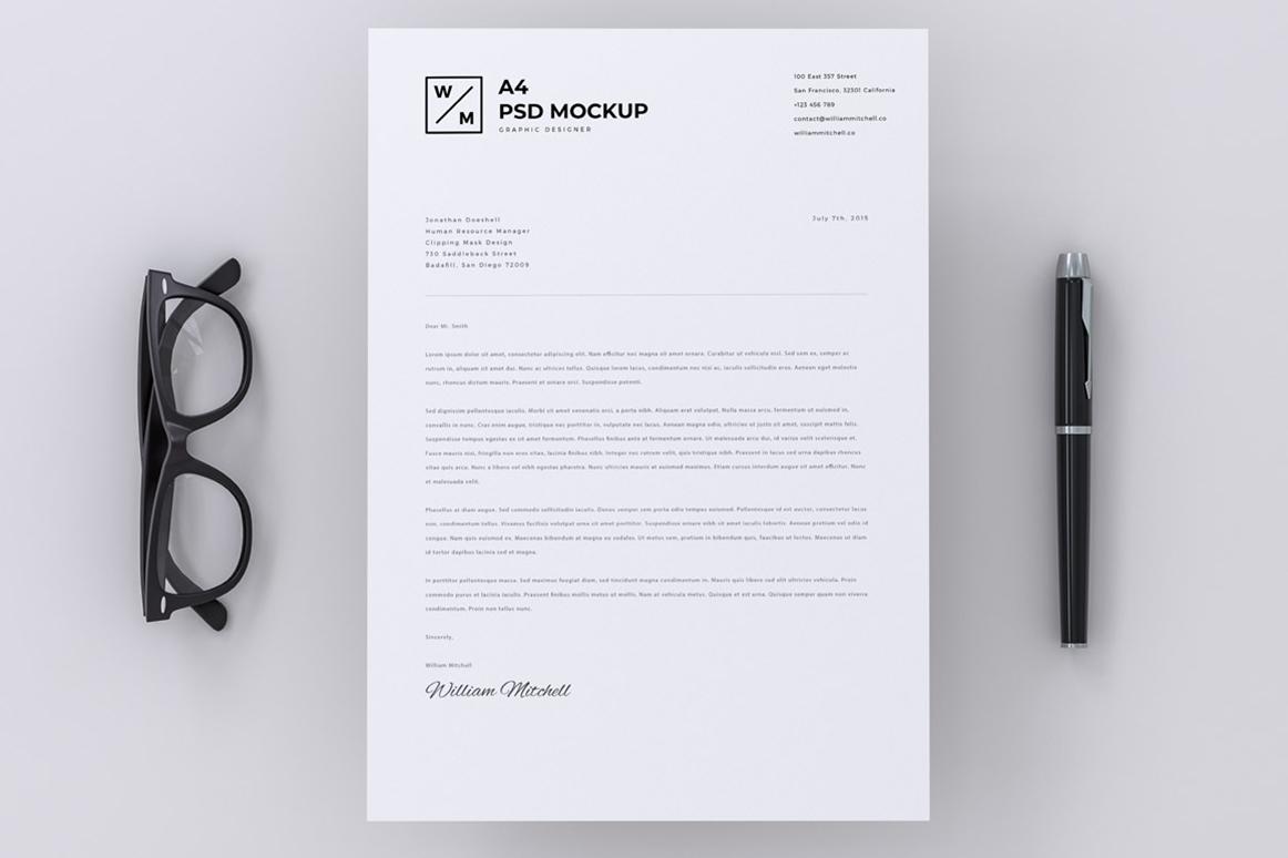 Minimal A4 Paper Mockup