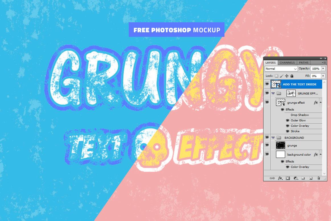 Grunge Photoshop Text Effect