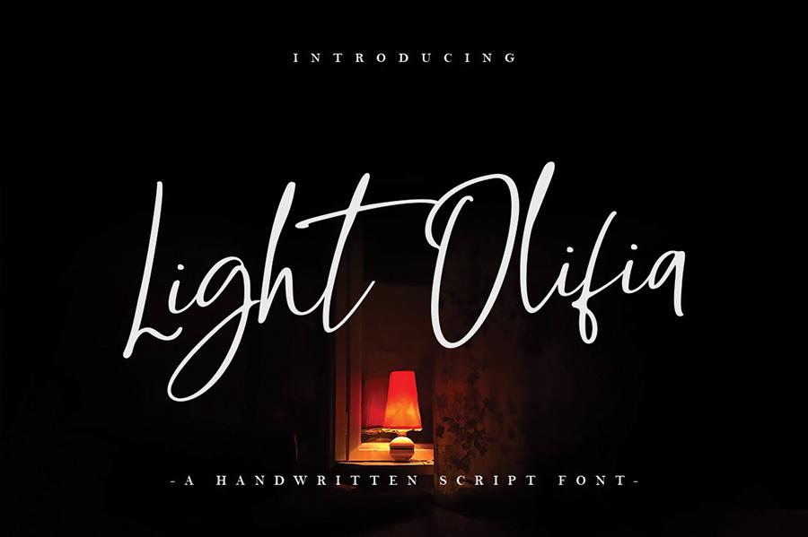 Light Olivia Script Demo