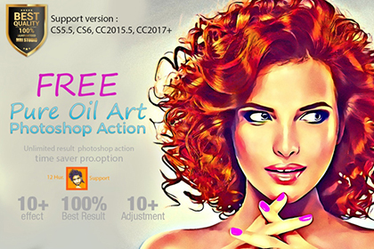 Pure Oil Art Photoshop Action