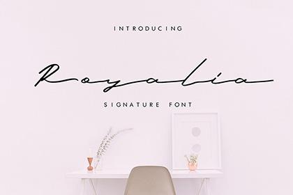 Royalia Free Signature Font