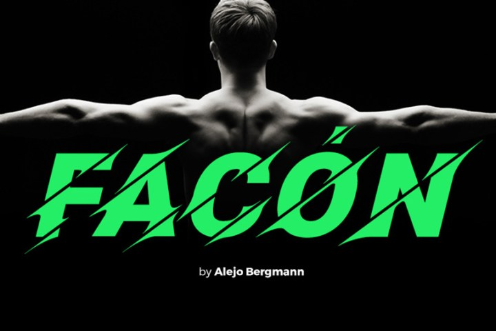 Facón Free Bold Display Font