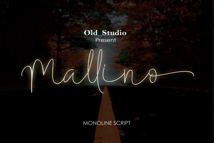 Mallino Monoline Script