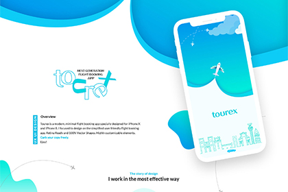 Tourex Free Sketch UI Design