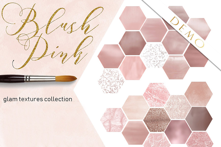 Blush Pink Watercolor Washes Textures