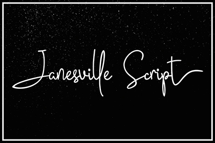 Janesville Script Font Demo