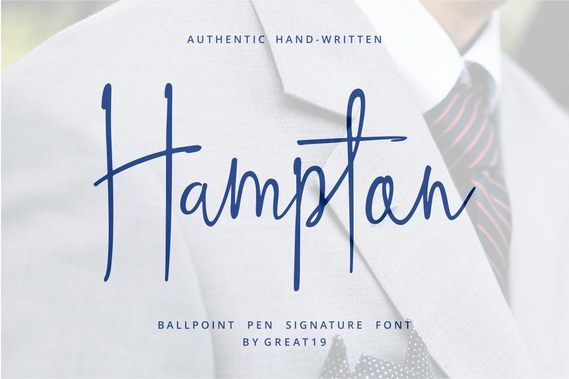 Hampton Signature Font Demo