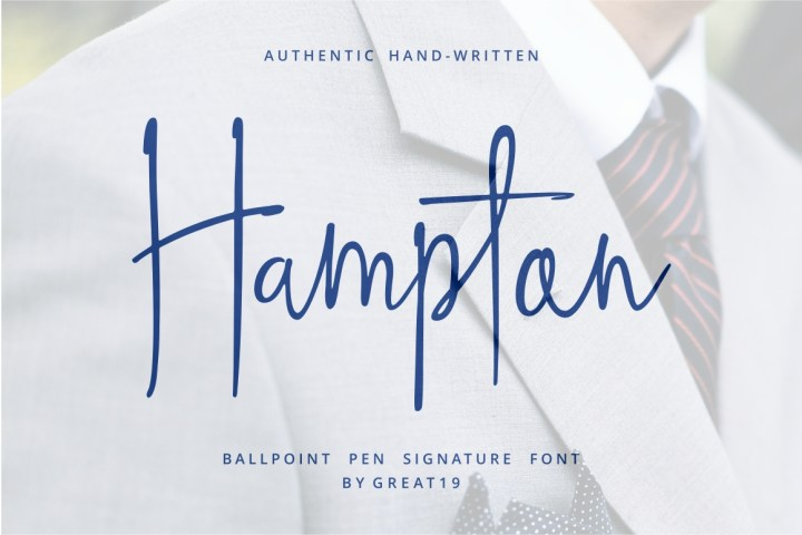 Hampton Signature Font Demo