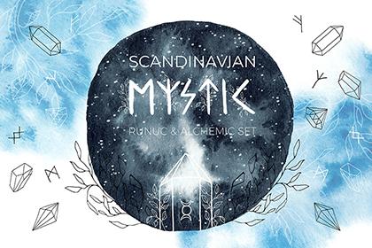 Mystic Scandinavian Runic Set