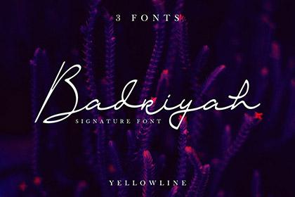 Badriyah Script Font Demo