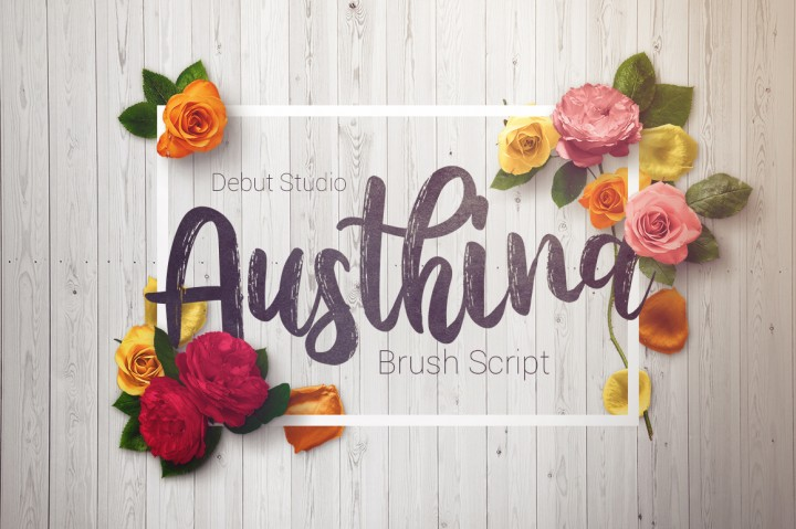 Austhina Brush Font Free Demo