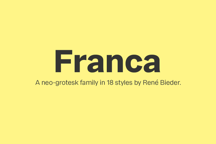 Franca Font Family Demo