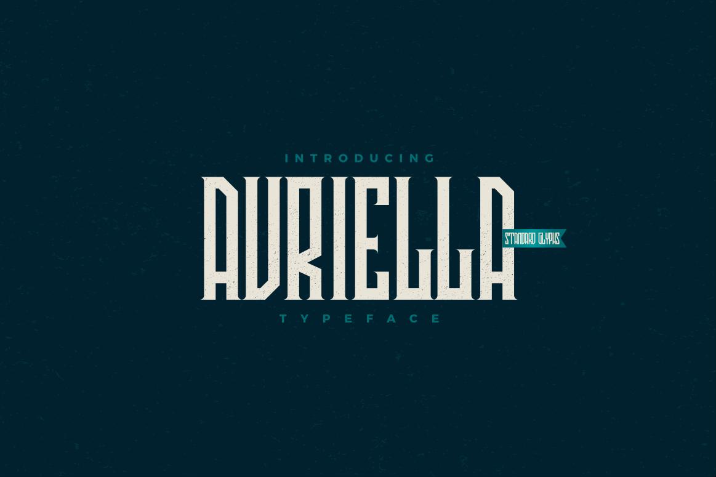 Avriella Display Font Demo