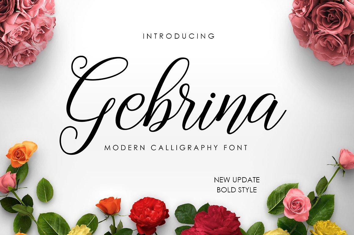 Gebrina Script Font Free Demo