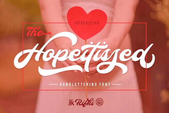 Hopeitissed Handlettering Font Demo