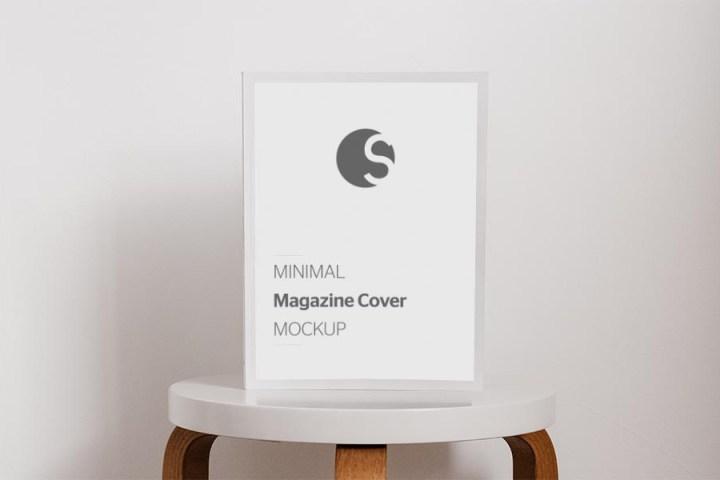 Minimal Magazine Cover Mockup