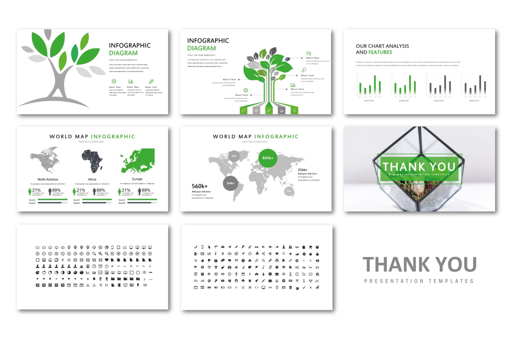 natural creative presentation template free design resources