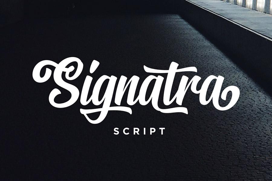 Signatra Script Free Demo