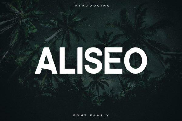 Aliseo Sans Serif Font Demo