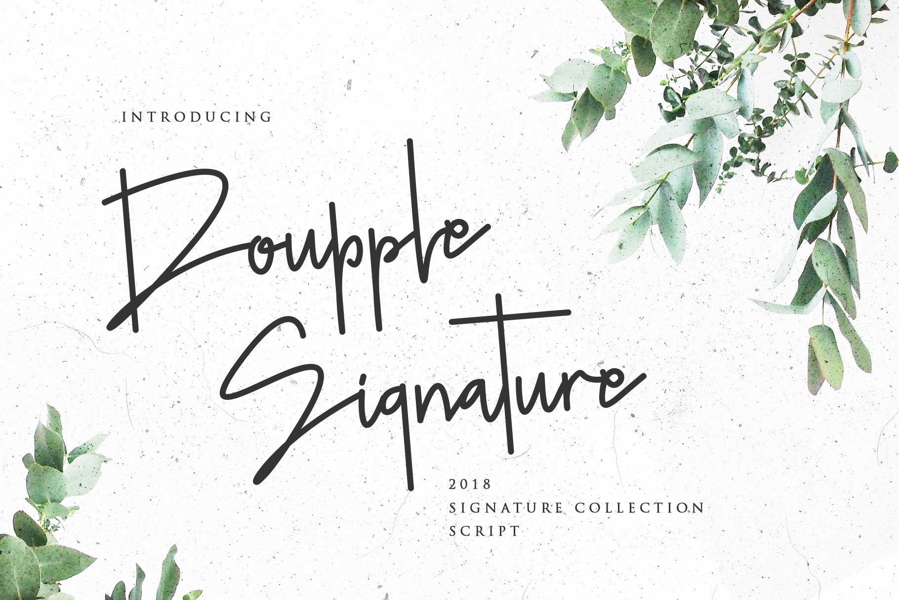 Doupple Free Signature Font