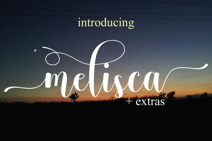 Melisca Script Free Demo