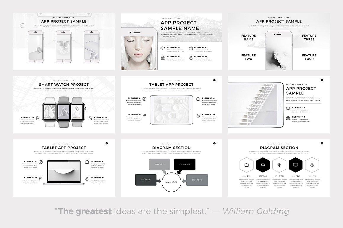 Neue Free Minimal Presentation Template