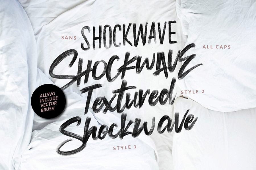 Shockwave SVG Brush Font Demo