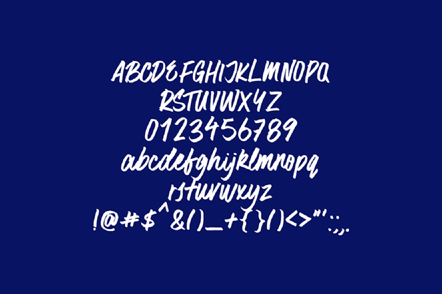 Surfer Bay Free Brush Font