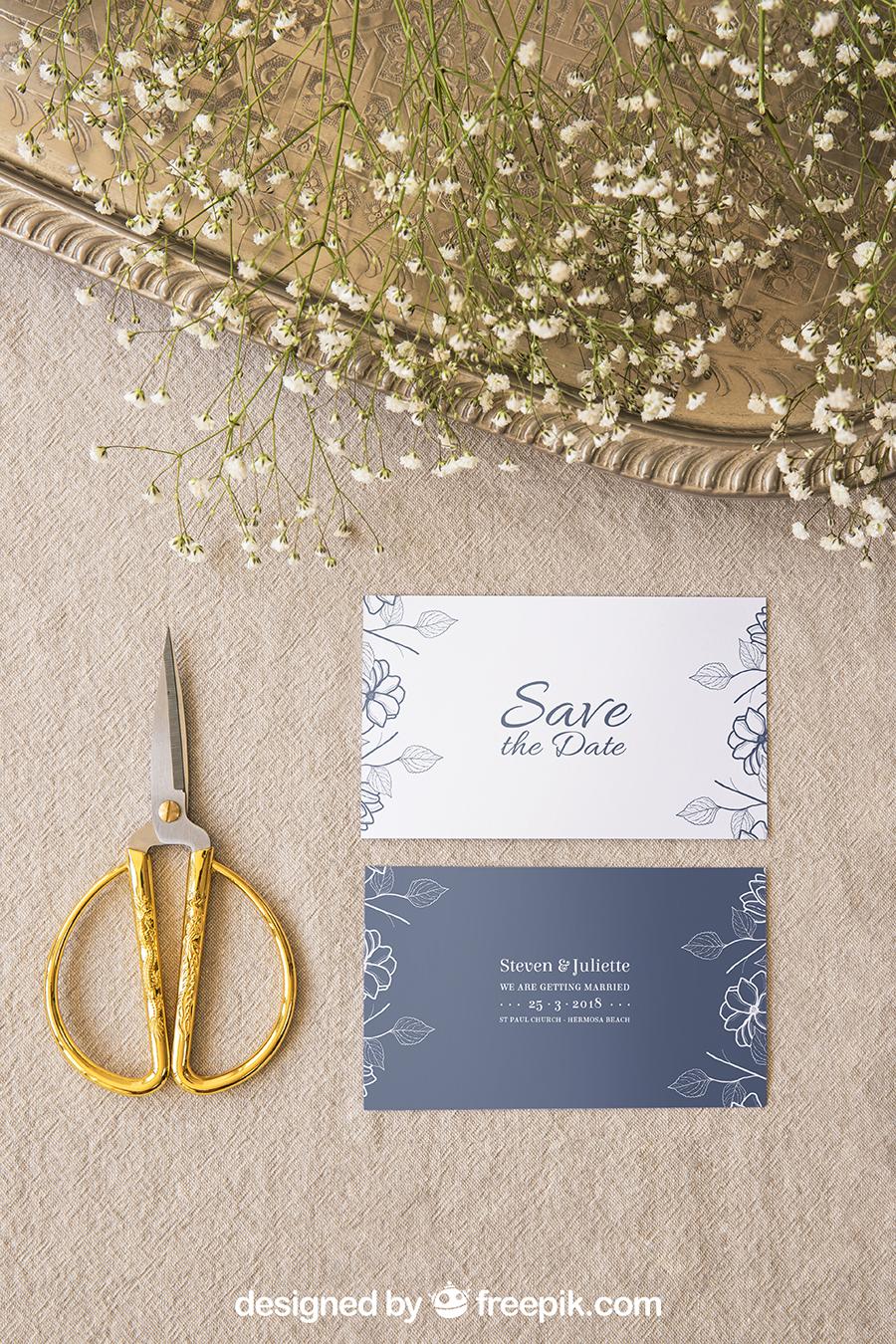 Wedding Invitation PSD Mockup