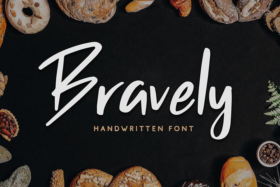 Bravely Handwritten Font Demo