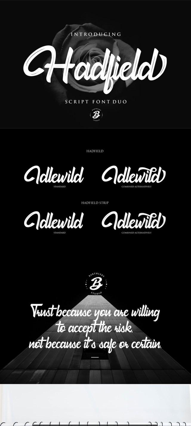 Hadfield Script Font Demo