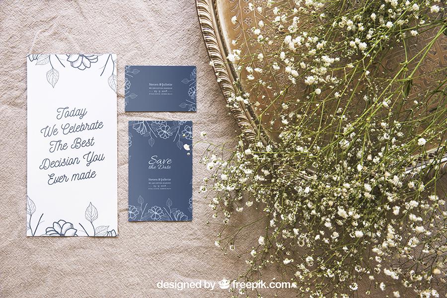 Wedding Stationery Mockup Set 2