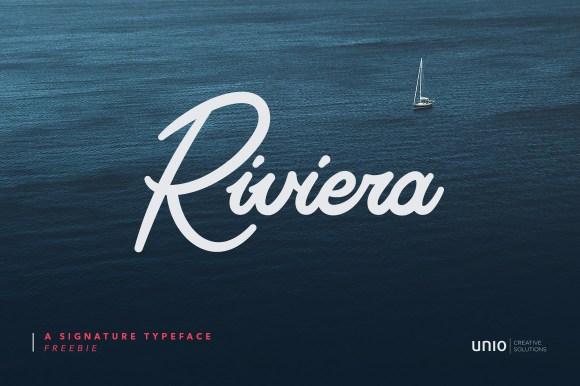 Riviera Signature Free Font