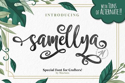 Samellya Handlettering Font Demo