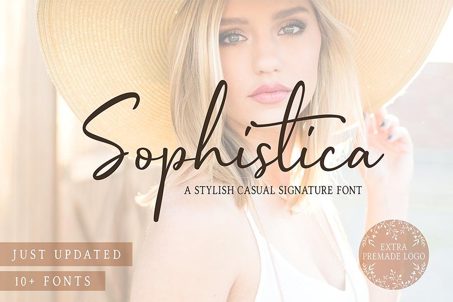 Sophistica Script Font Demo