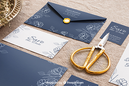 Wedding Stationery Mockup Set 4