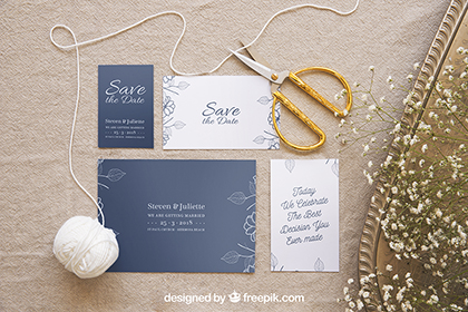 Wedding Stationery Mockup Set 3