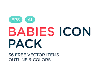 Free Baby Vector Icon Pack