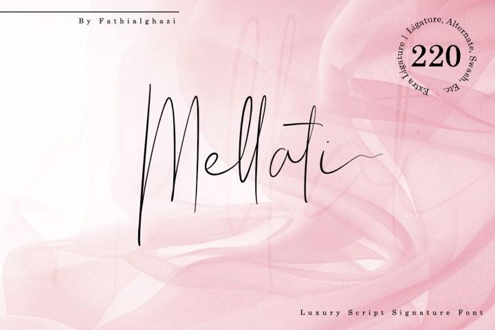 Free Mellati Luxury Script Signature
