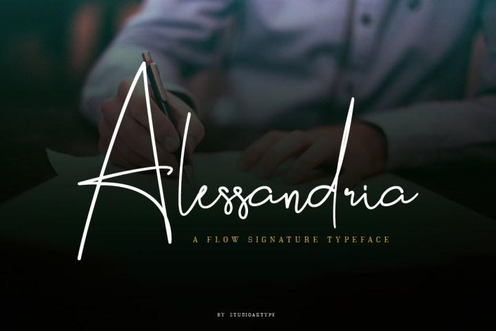 Alessandria Signature Font Demo